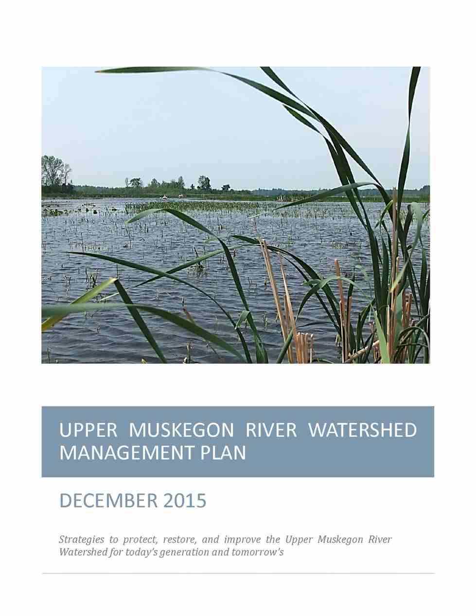 Upper Muskegon River Watershed